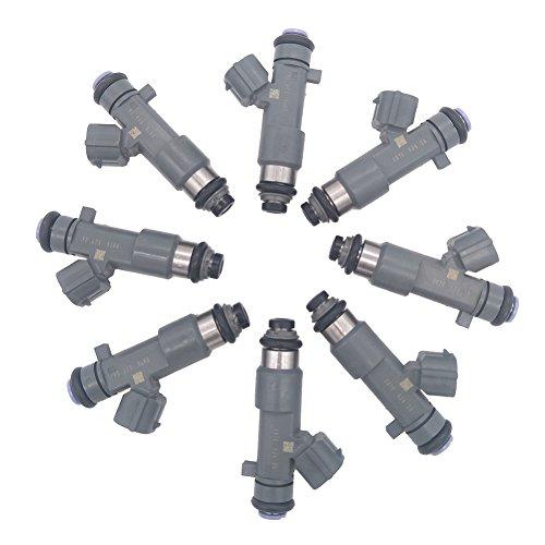 JESBEN 8pcs Set Fuel Injectors 12 Holes Fit For Armada Titan VK56DE 5.6L-V8 2006-2015 Frontier VQ40DE 4.0L 2016-2018 16600-ZJ50A FJ1076