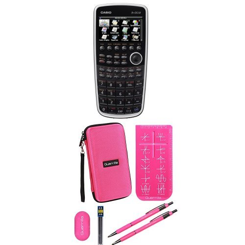 Casio Prizm Graphing Calculator With Travel Case And Essential Graphing Accessory Bundle, Pink by Casio