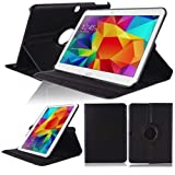WiTa-Store Cover Case for Samsung Galaxy Tab 4 10.1 Inch SM-T530 T531 T533 T535 Smart Cover Slim Case Stand Flip (Black)