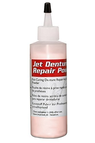 Lang Dental Jet Denture Repair Powder - Pink - 4 oz. (Denture Repair Acrylic Resin)