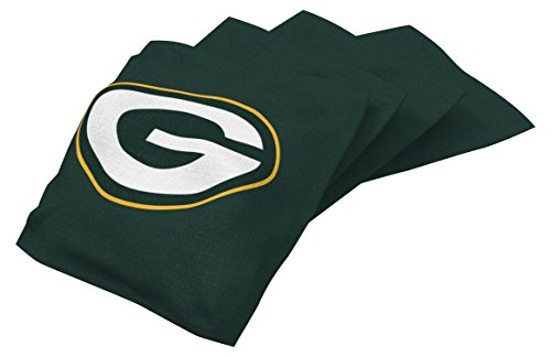 (Wild Sports NFL Green Bay Packers Green Authentic Cornhole Bean Bag Set (4 Pack))