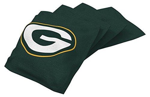 Wild Sports NFL Green Bay Packers Green Authentic Cornhole Bean Bag Set (4 Pack) (Bay Bean Bag Toss Green)