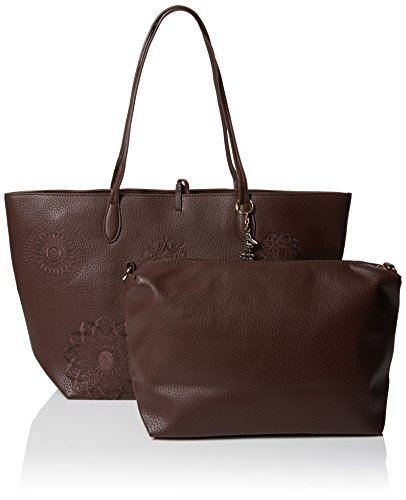 Handbag B Brown x 30x28x13 Alexa New T x Shades Desigual Women's Capri Shoulder H cm qwU8XH