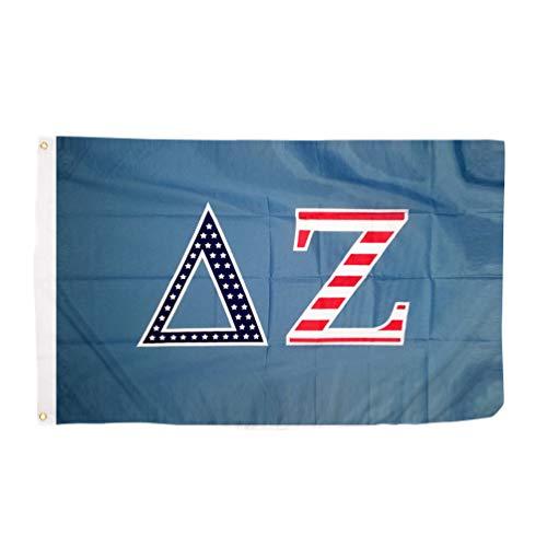 Delta Zeta USA Letter Sorority Flag Greek Banner Large 3 Feet x 5 Feet Sign Decor dz