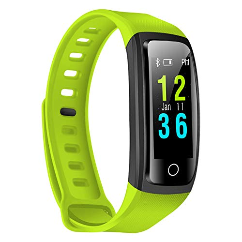 LEERYAAY CB606 Heart Rate Monitor Smart Bracelet Fitness Wristband Green ()