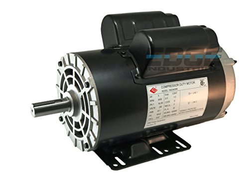 NEW 5HP COMPRESSOR DUTY ELECTRIC MOTOR, 56HZ FRAME, 3450 RPM, 7/8