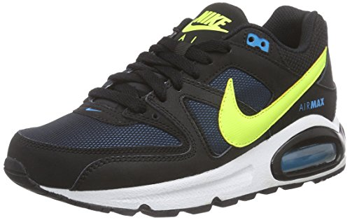 Nike Unisex-Kinder Air Max Command (GS) Low-Top Schwarz (Black/Volt-Blue Lagoon 074)