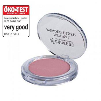 Benecos Natural Powder Blush, Balanced and Matte Complexion, Kaolin Clay and Natural Minerals - Organic Makeup & Skin Care Cosmetics (Mallow (Natural Powder Blush)