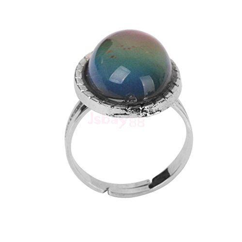 Vintage Retro 70s Oval Mood Ring Color Changeable Emotion Feeling Adjustable by ShiningLove (Image #7)