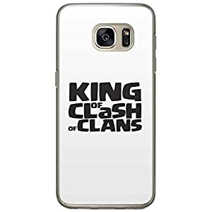 Loud Universe Samsung Galaxy S7 King of Clash of Clans Printed Transparent Edge Case - Black/White