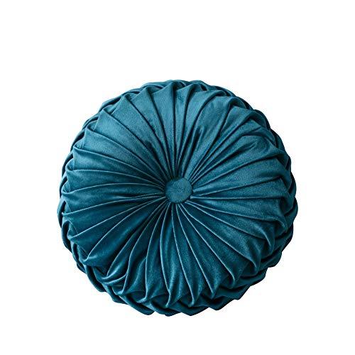 Wenasi Velvet Round Pumpkin Throw Pillow Couch Cushion Floor Pillow Decorative for Home Sofa Chair Bed Car Decorative Diameter - 13.8 inch ()