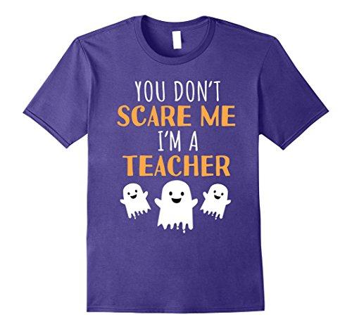 Mens Funny Teachers Halloween T Shirt Cute Halloween Gift 3XL Purple