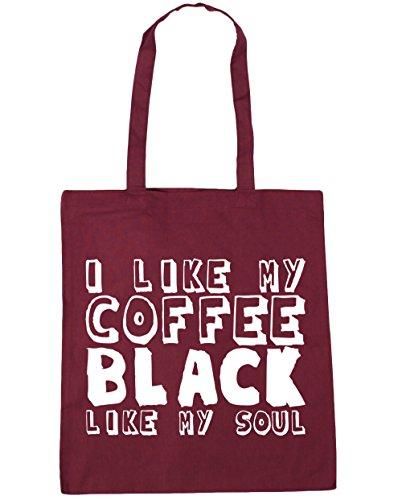 HippoWarehouse - Bolsa de playa de algodón  Mujer, negro (negro) - 21510-TOTE-Black granate