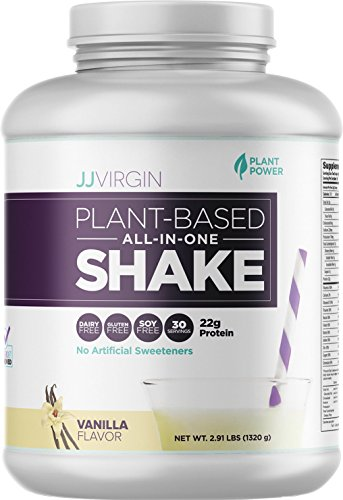JJ Virgin - Vanilla Plant-Based All-In-One Shake (Brand New Packaging), Net Wt 2.91 lbs by JJ VIRGIN