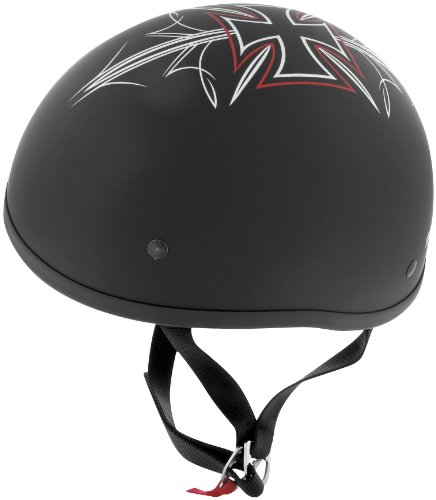 Skid Lid Helmets Original Street Rod Helmet , Size: Lg, Primary Color: Black, Distinct Name: Flat Black Street Rod, Helmet Category: Street, Helmet Type: Half Helmets, Gender: Mens/Unisex XF64-6703