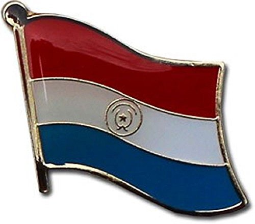 - ALBATROS Pack of 3 Paraguay Country Flag Lapel Pin for Bike Hat and Cap for Home and Parades, Official Party, All Weather Indoors Outdoors