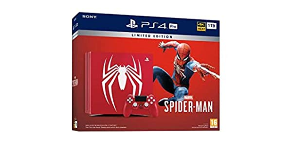 PS4 Pro 1TB Limited Edition + Marvels Spider-Man: Amazon.es: Videojuegos