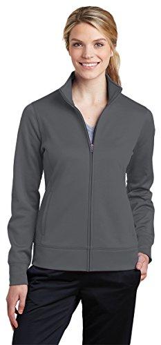 Sport-Tek Womens Sport-Wick Fleece Full-Zip Jacket (LST241) -Dark Smoke -M