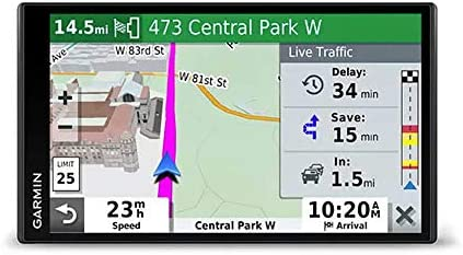Garmin DriveSmart 65 with Amazon Alexa, Built-In Voice-Controlled GPS Navigator with 6.95 High-Res Display
