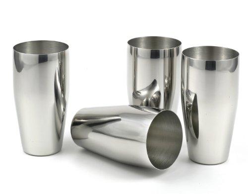 stainlesslux 77365 4 piece brilliant stainless steel tumblers 24 oz drinking ebay. Black Bedroom Furniture Sets. Home Design Ideas