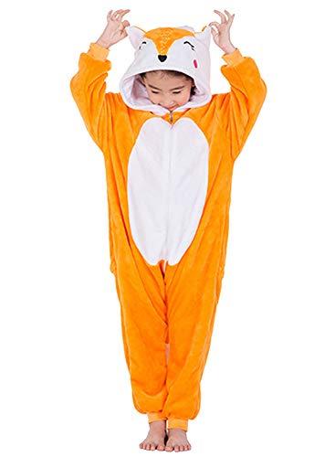Amenxi Kinderpyjama, uniseks, meisjes, jongens, pyjama, cartoon, fleece, losse casual eenhoorn, jumpsuit, overall…
