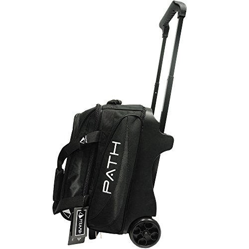 Pyramid Path Premium Deluxe Double Roller Bowling Bag (Black/Black)