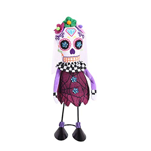Loneflash Halloween Doll Toys,Skull Halloween Decoration Home Ornament Plush Stuffed Doll Decor (A) ()