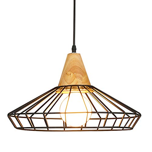Industrial Vintage Mini Metal Ceiling Pendant Light - YIKEGE Minimalist Hanging Lighting 11.81