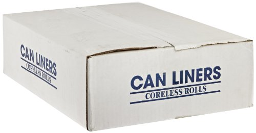 "Spectrum CAMZ243308N CP243308N HDPE Institutional Trash Can Liner, 12-16 gallon Capacity, 33"" Length x 24"" Width x 8 micron Thick, Natural (Case of 1000)"