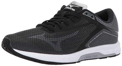 Racing Mizuno Shoes (Mizuno Women's Wave Sonic Running-Shoes, Black/Iron Gate/Silver, 9 B US)