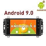 MCWAUTO Reproductor de DVD y GPS estéreo para Coche para Dodge Ram Challenger Jeep Wrangler JK, Android 9.0