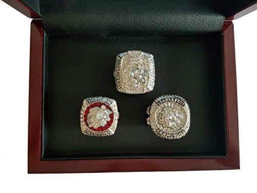 YIYICOOL NHL 2010/2013/2015 Stanley Cup Chicago Blackhawks Championship Ring Set Size 11