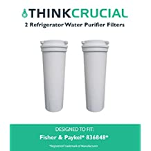 2 Fisher & Paykel 836848 Refrigerator Water Purifier Filter Fits E402B, E442B, E522B & RF90A180DU, Designed & Engineered by Think Crucial