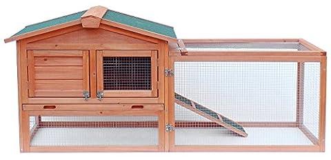 Merax Pet Rabbit Bunny Wood Hutch House (NO.2) - 2 Rabbits