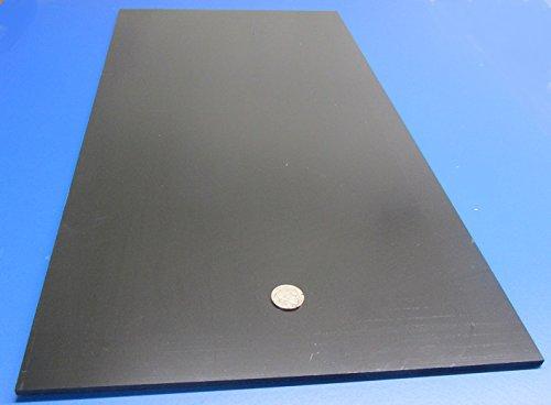 2 Pcs ABS Smooth Black Sheet .188 x 12 x 24 3//16