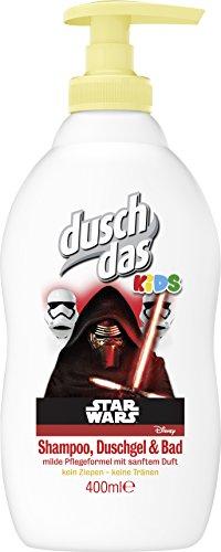 Duschdas KIDS Shampoo, Duschgel & Bad Disney Star Wars Pumpspender, 6er Pack (6 x 400 ml)