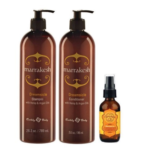 - Marrakesh Shampooo and Conditioner Back Bar Caddy- Dreamsicle 25 OZ + Oil 2 oz by MARRAKESH