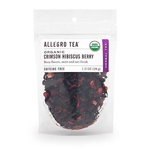 Allegro Tea, Organic Crimson Hibiscus Berry, Loose Leaf Tea, 1 oz