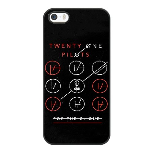 Coque,Apple Coque iphone 5/5S/SE Case Coque, Generic Twenty One Pilots Blurryface Cover Case Cover for Coque iphone 5 5S SE Noir Hard Plastic Phone Case Cover