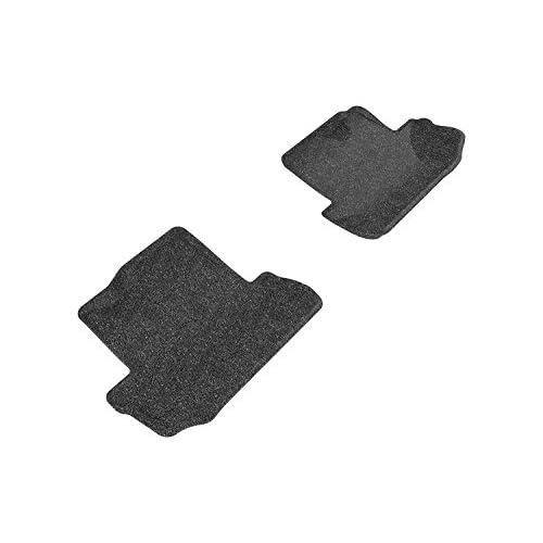 3D MAXpider Front Row Custom Fit Floor Mat for Select Honda Accord Models Gray Classic Carpet