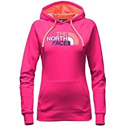 The North Face Womens Half Dome Hoodie,Cabaret Pink/Feaehter Orange Multi,Medium