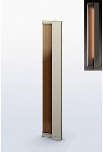 YKKAP ルシアス サインポール A02型 URC-A02 照明付き インターホン加工なし Rタイプ 複合カラー *表札はネームシールとなります 『機能門柱 機能ポール』 プラチナステン/ショコラウォールナット