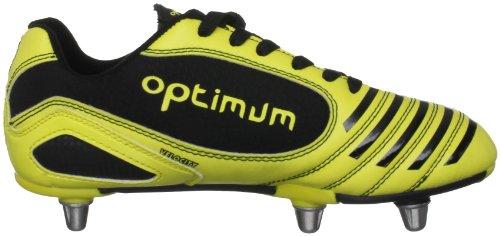 Optimum Velocity - Botas de rugby Negro/Amarillo