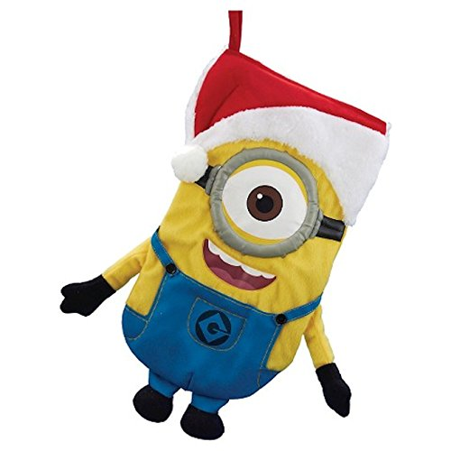 Despicable Me Stuart the Minion with Santa Hat Plush Christmas Stocking by Kurt Adler