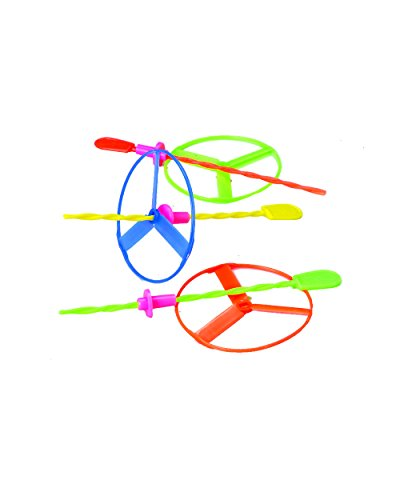 us-toy-twisty-flying-saucers-helicopter-toys-package-of-12-assorted-colors
