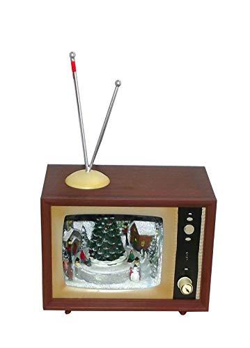 (RAZ Imports Animated Christmas Scene Retro TV Home Decoration)