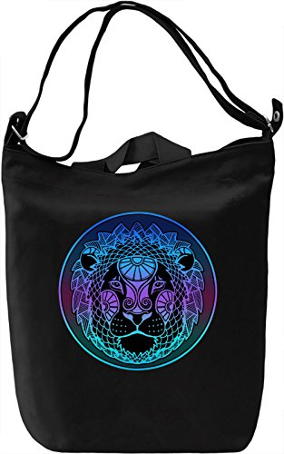 Graphic Lion Borsa Giornaliera Canvas Canvas Day Bag| 100% Premium Cotton Canvas| DTG Printing|
