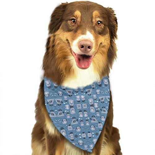 GYDHSN I Am The Walrus Giftwrap Dog Bandanas Washable Triangle Adjustable Dog Scarf