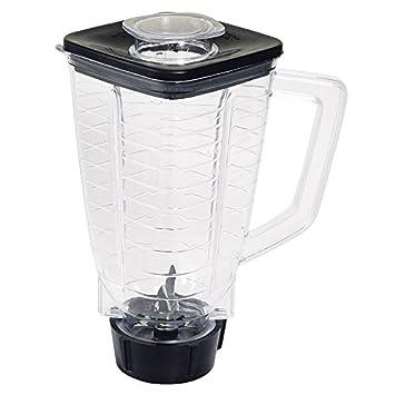 Juego completo de repuesto de 6 piezas para jarra de batidora de plástico compatible con batidoras Oster: Amazon.es: Hogar
