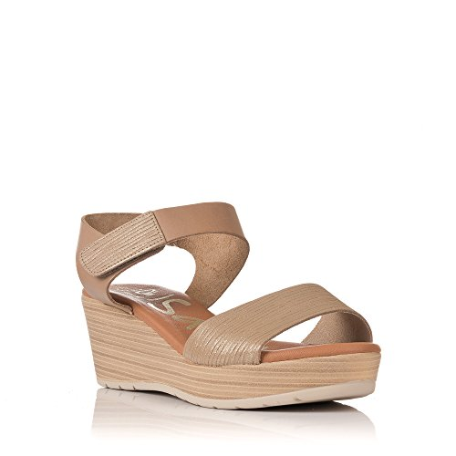 Sandals Taupe Cuña Pulsera My 3886 Velcro Mujer Oh wx0Xx